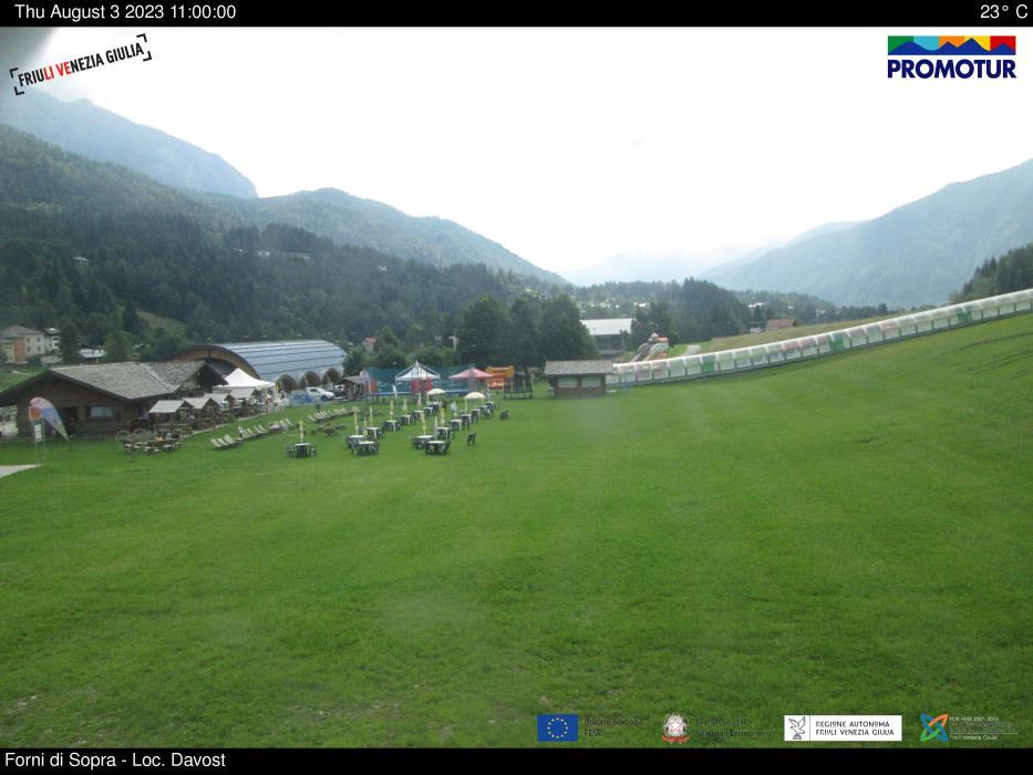 Webcam Forni di Sopra campi scuola sci