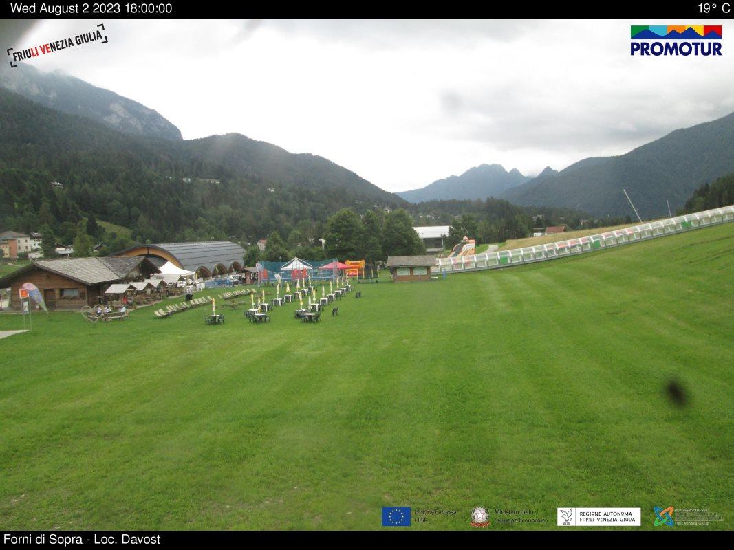 Webcam Forni di Sopra piste Friuli Venezia Giulia
