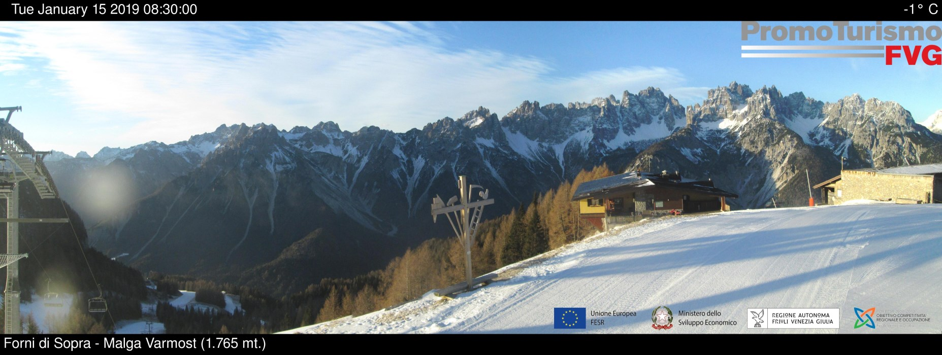 Webcam panoramica Malga Varmost - Forni di Sopra