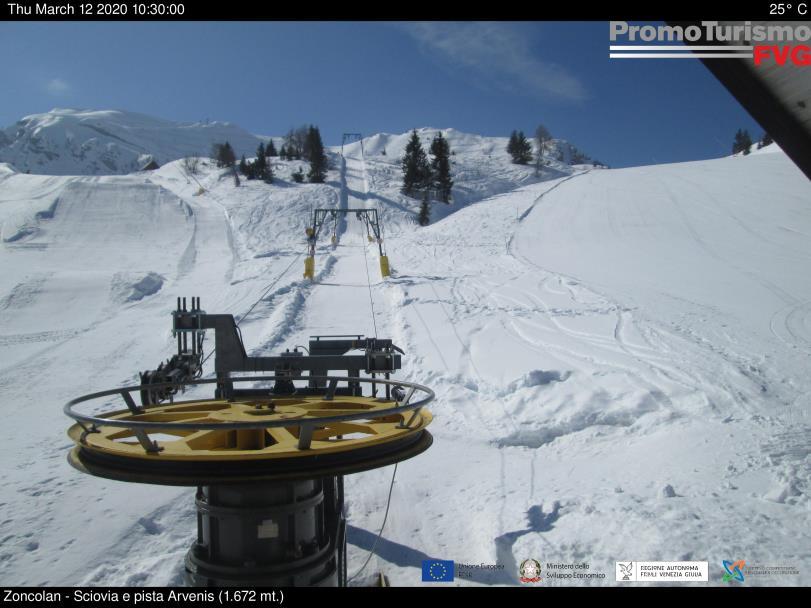 Webcam Snowpark e skilift Arvenis - Zoncolan
